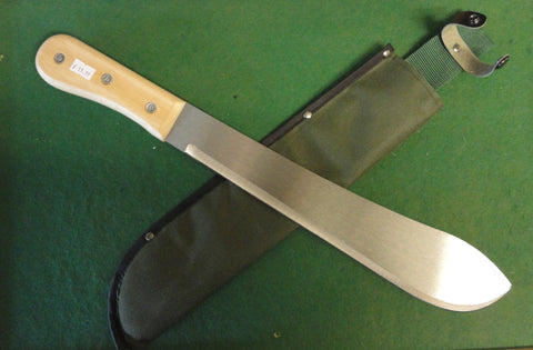 MACHETE with wooden handle and bolo style blade