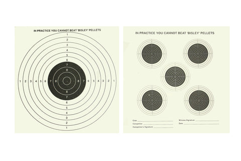 Bisley 14cm targets double sided