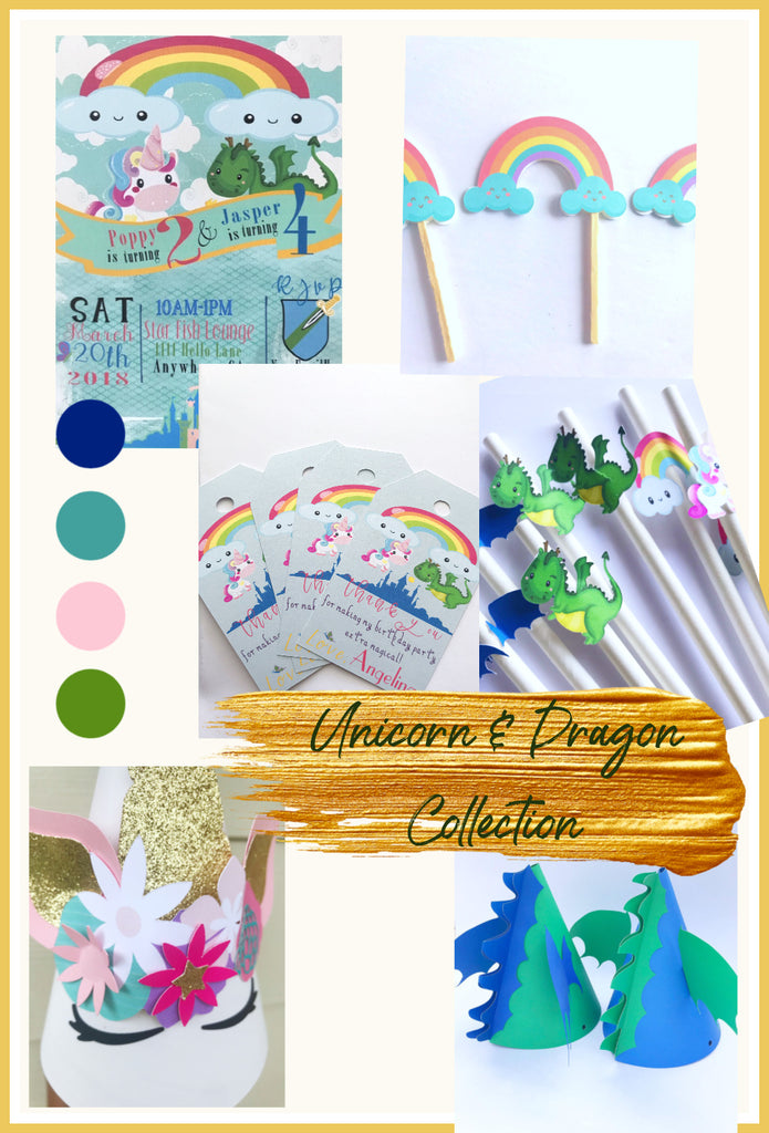 Unicorn and Dragon Party Collection
