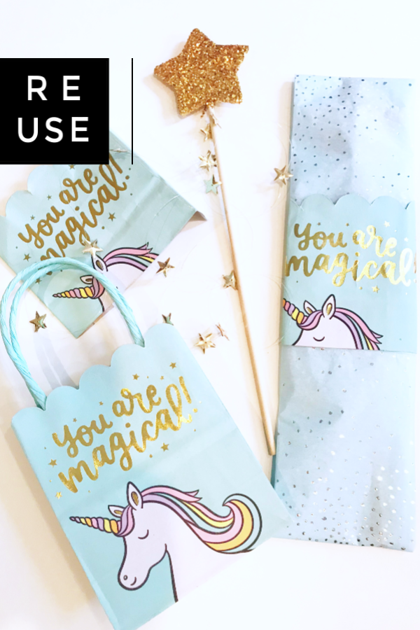 Reusing A Unicorn Gift Bag