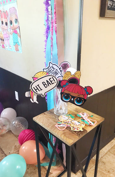 LOL spa birthday Photo Booth props