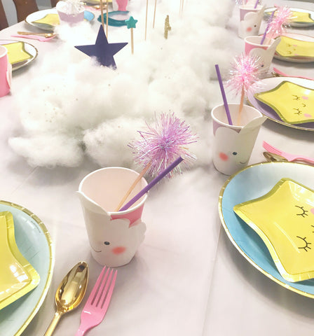 kids party table place setting