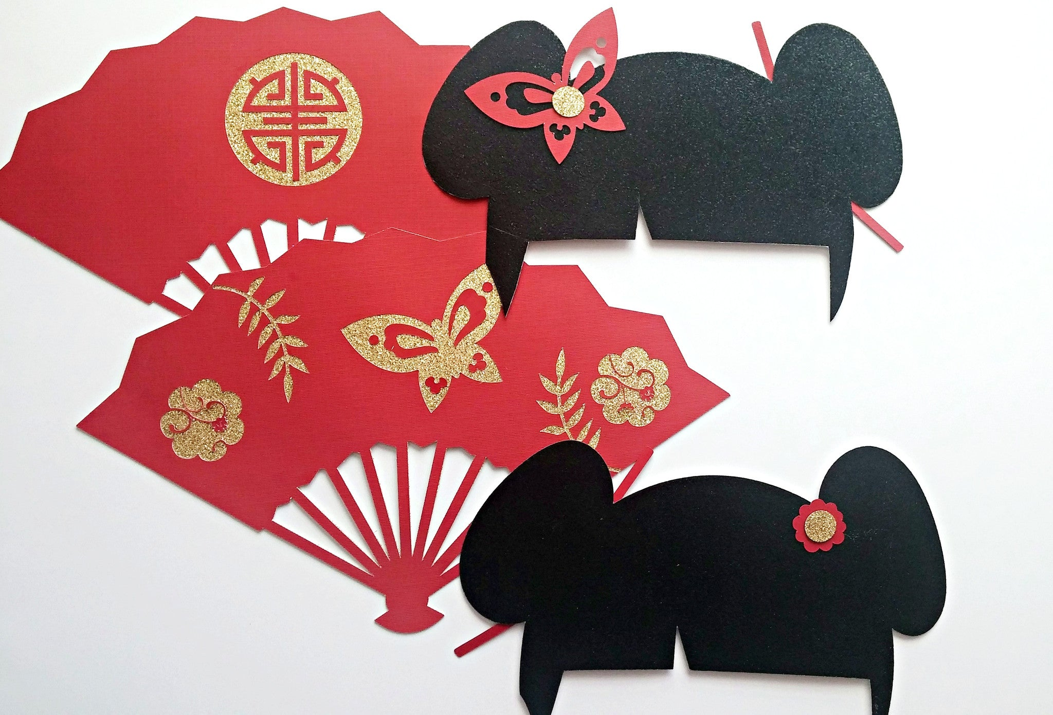 Asian photo booth props, oriental party decorations, geisha girl party decorations