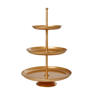 Gold Metal Cake and cupcake stand