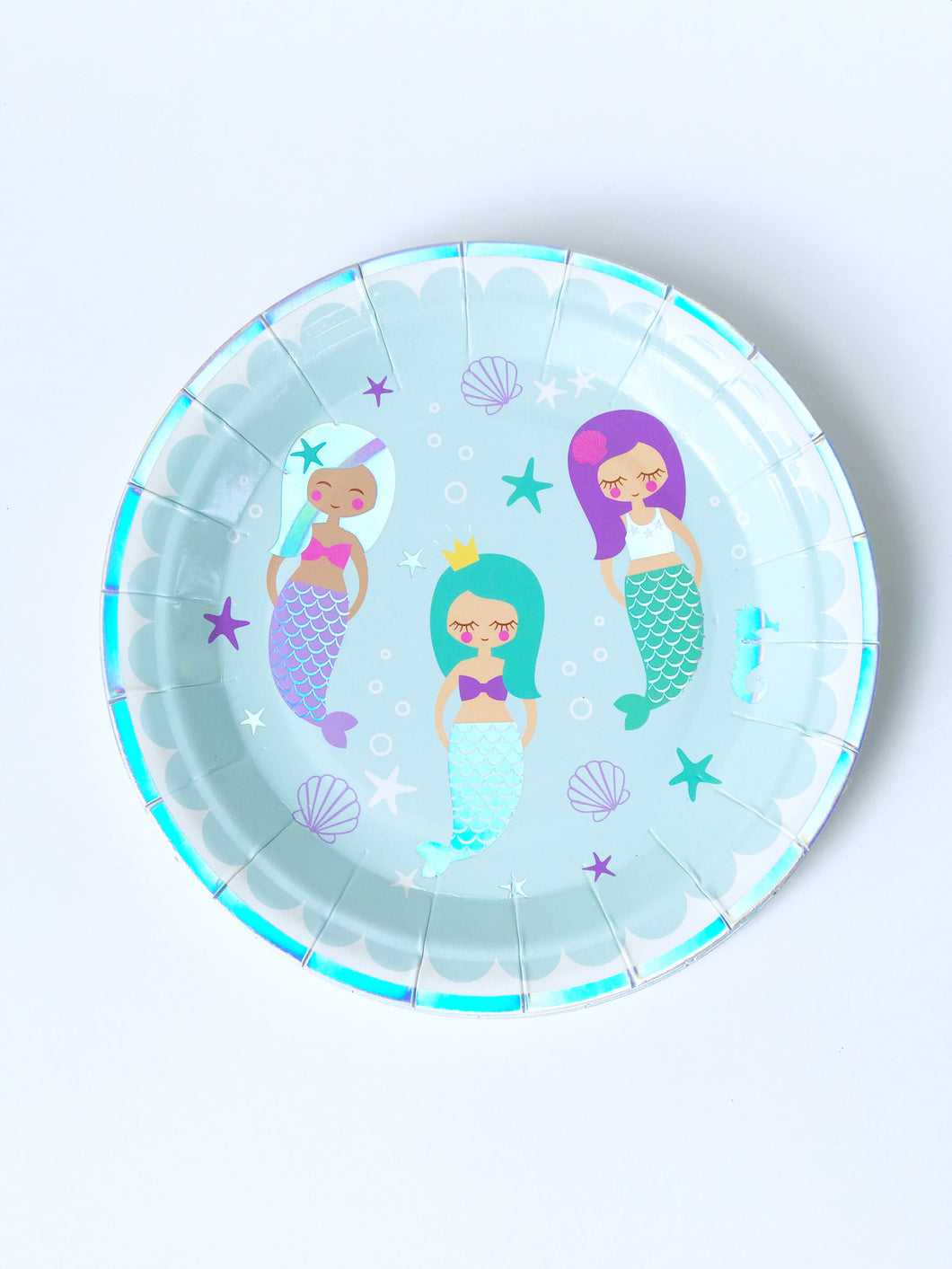 Mermaid Paper Cake Plates