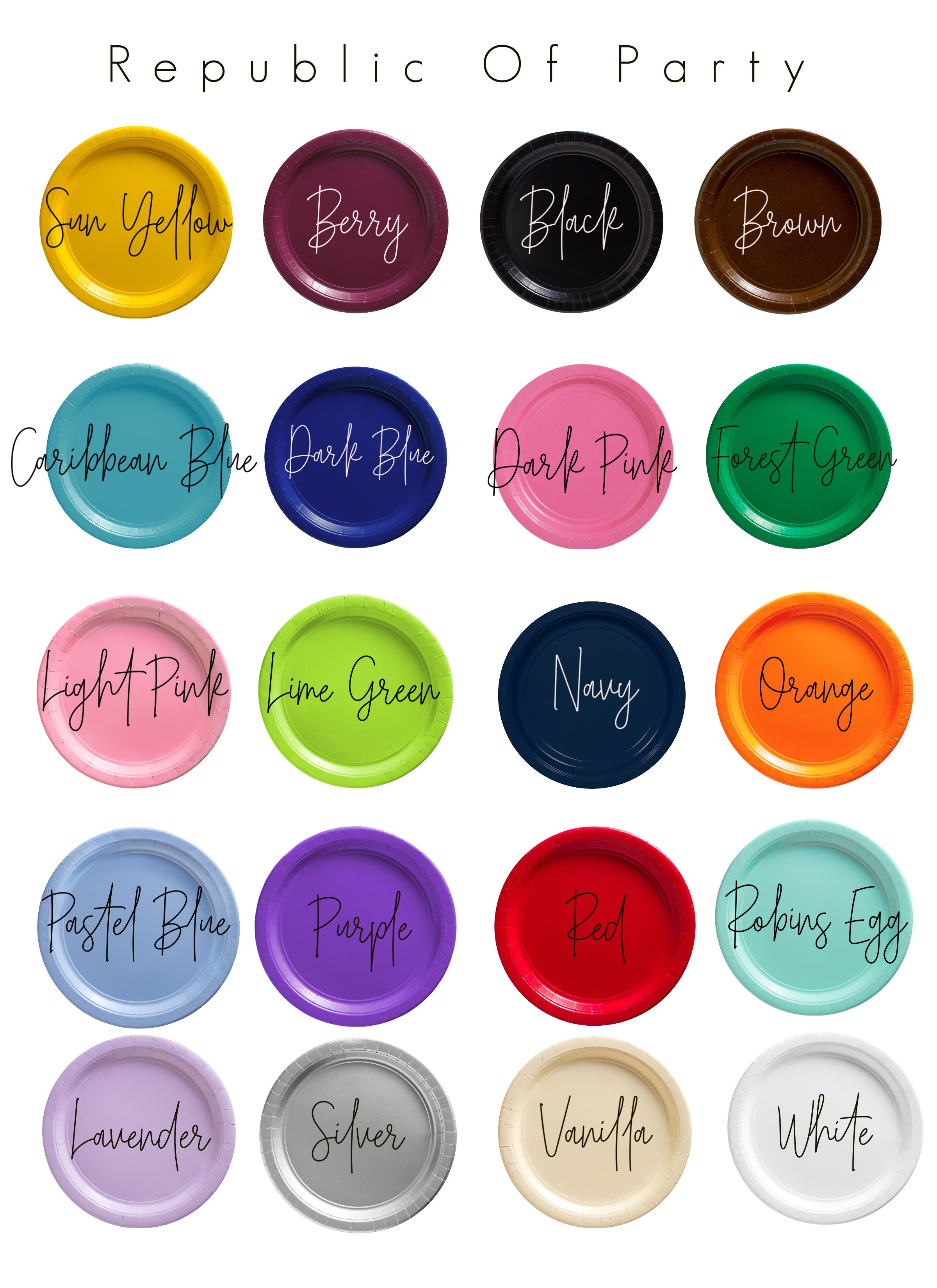 plate color chart