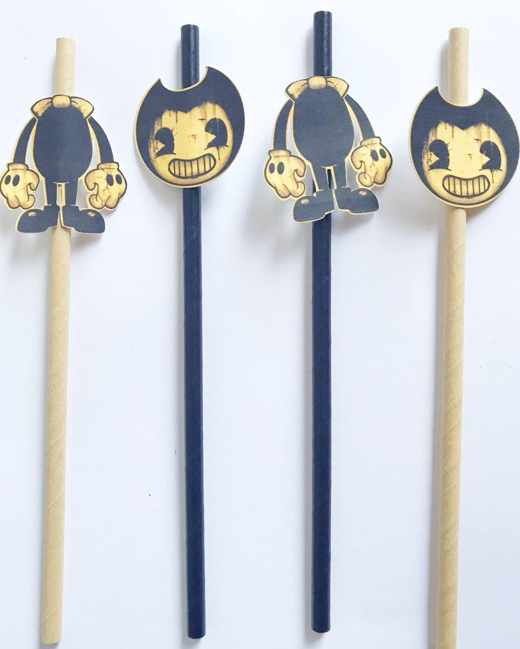 bendy and the ink machine party straws