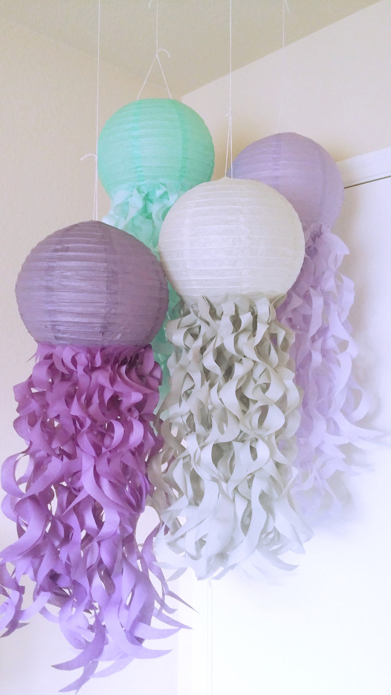 Mermaid Party jellyfish lanterns, Under the sea party, Room decorations