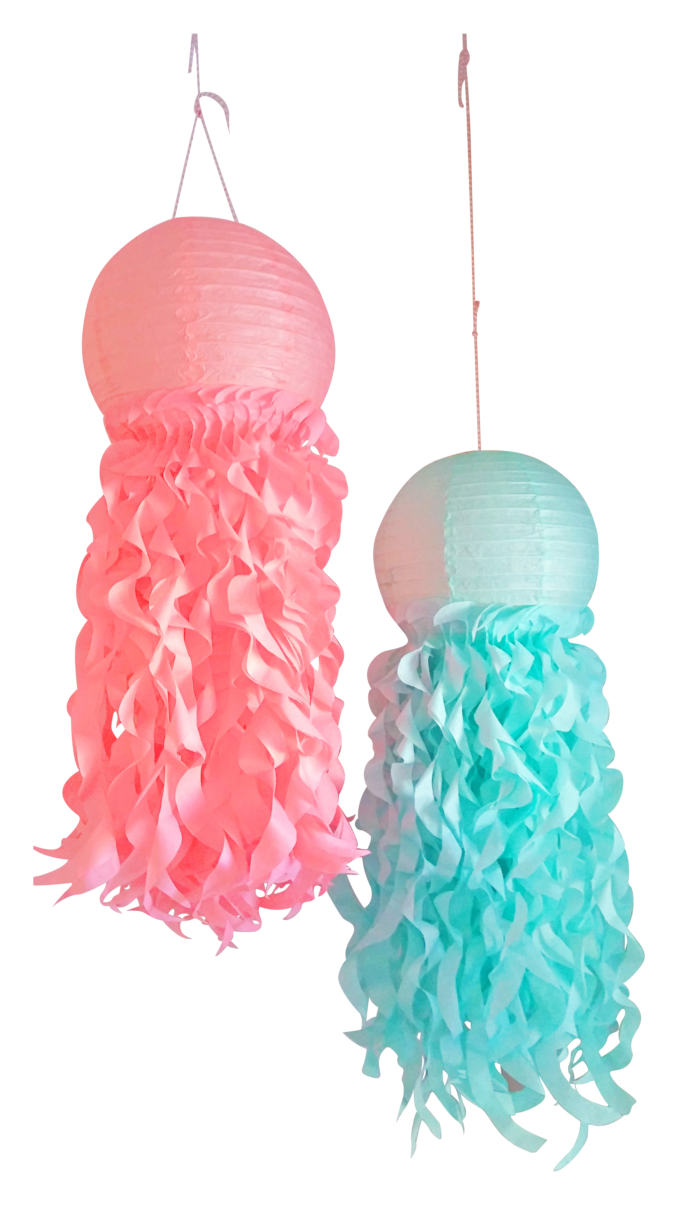 jellyfish lanterns, mermaid party decorations