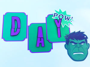 Hulk Birthday Party Banner