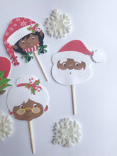 Christmas cupcake toppers for the culture