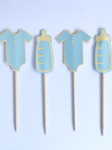 baby boy shower cupcake toppers