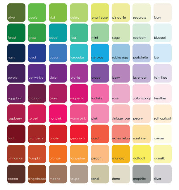 Republic Of Party Color chart