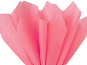 coral tissue paper made from recycled fibers