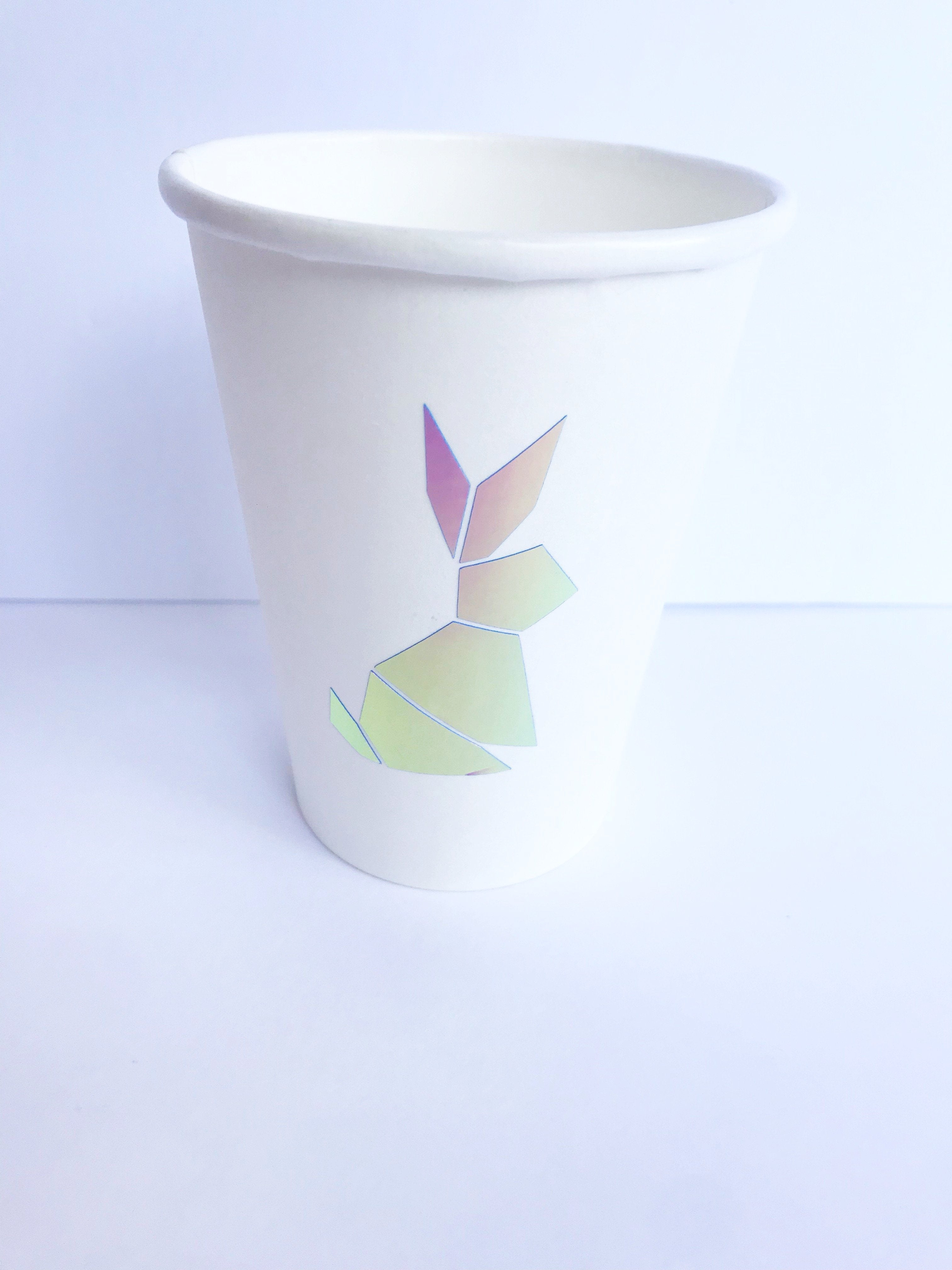 bunny party treat and drinking cups