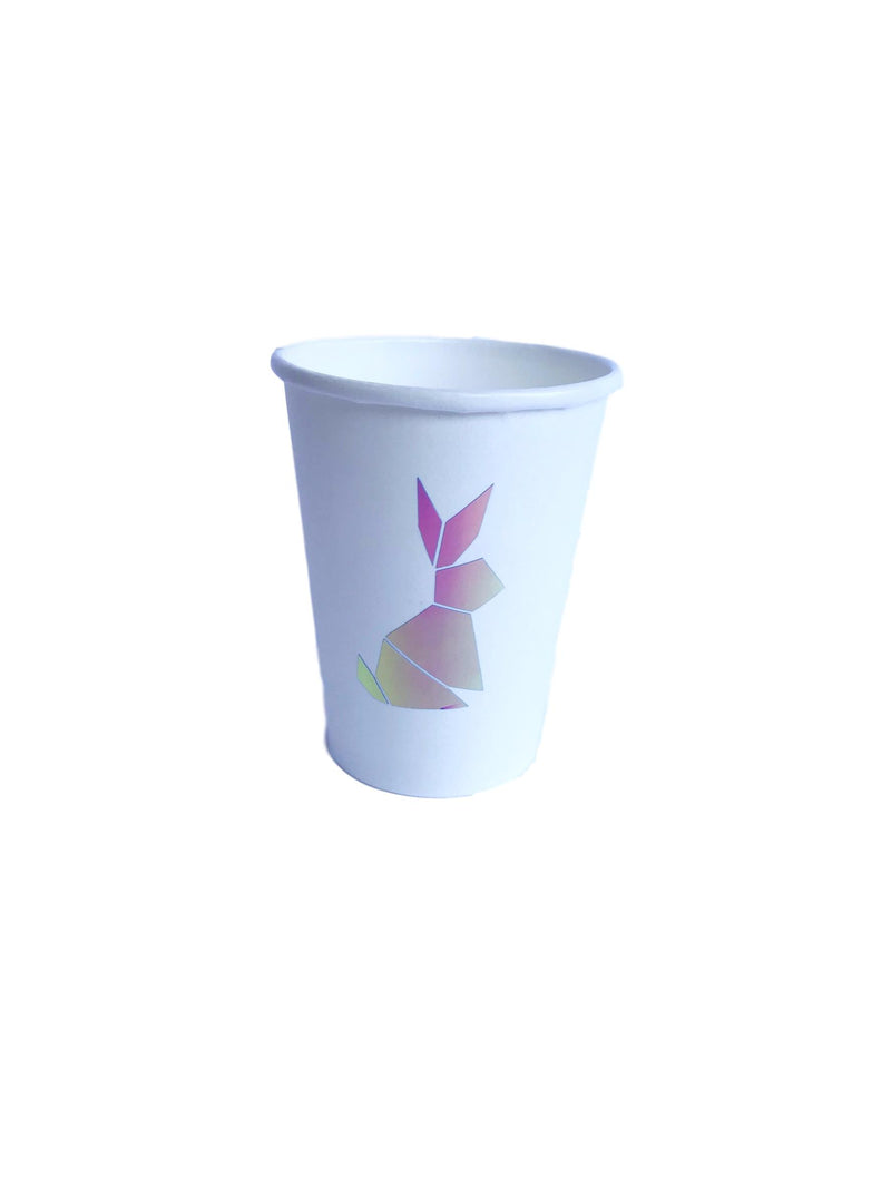 holographic bunny paper cups
