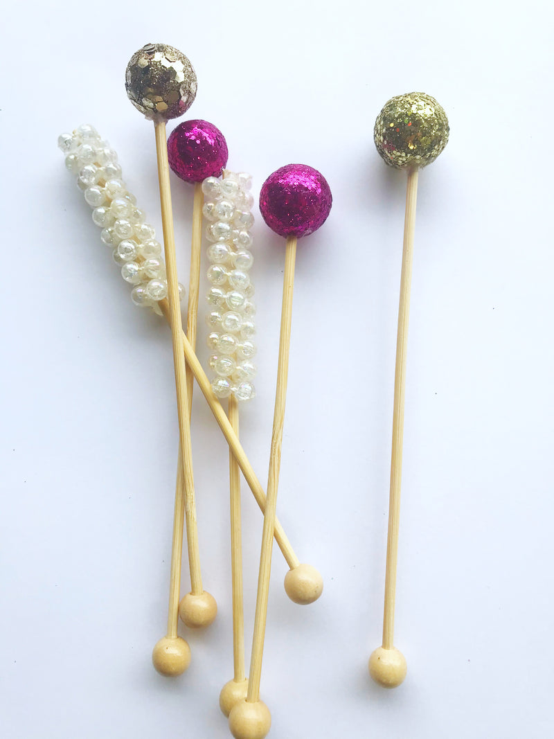 Cocktail drink stirrers