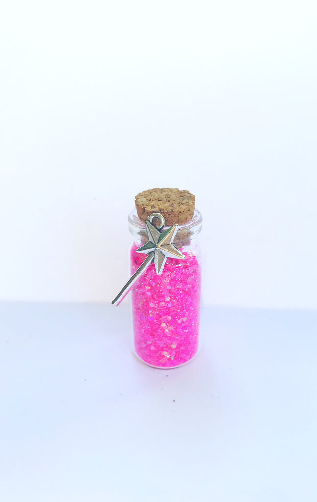 hot pink fairy dust party favor