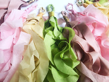 recycled tissue paper garland