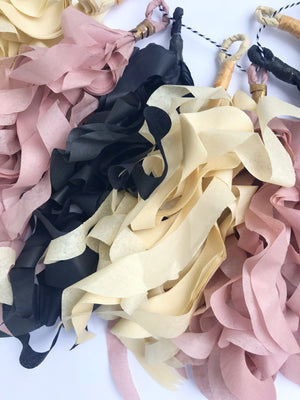 curly tassel garland recycled paper