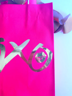 Red XOXO gift bag