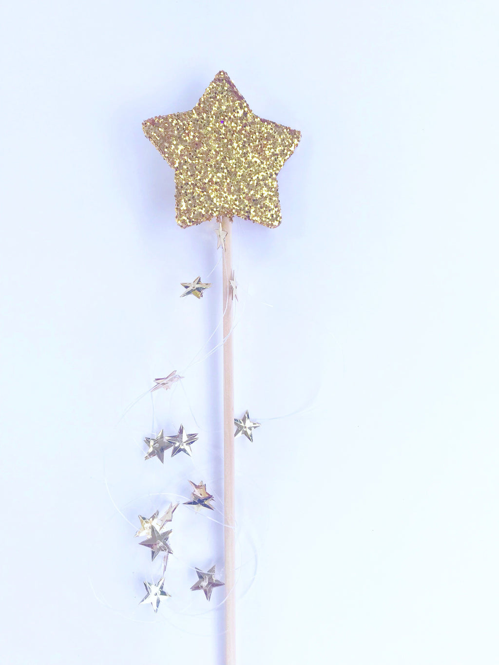 Gold glitter star wand Fairy wand