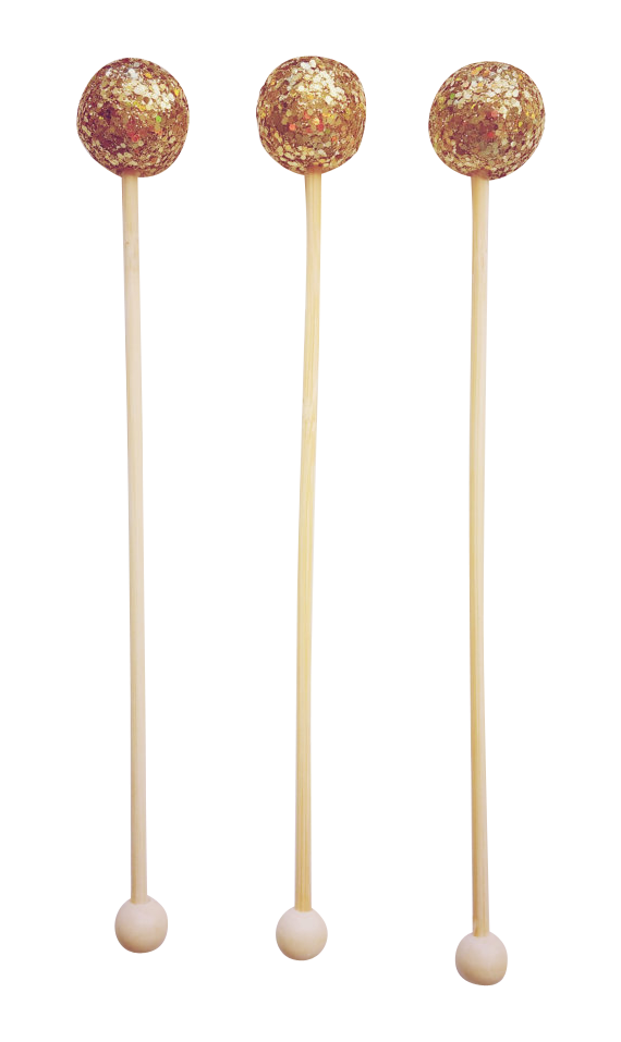 Gold Sparkle Drink Stirrers