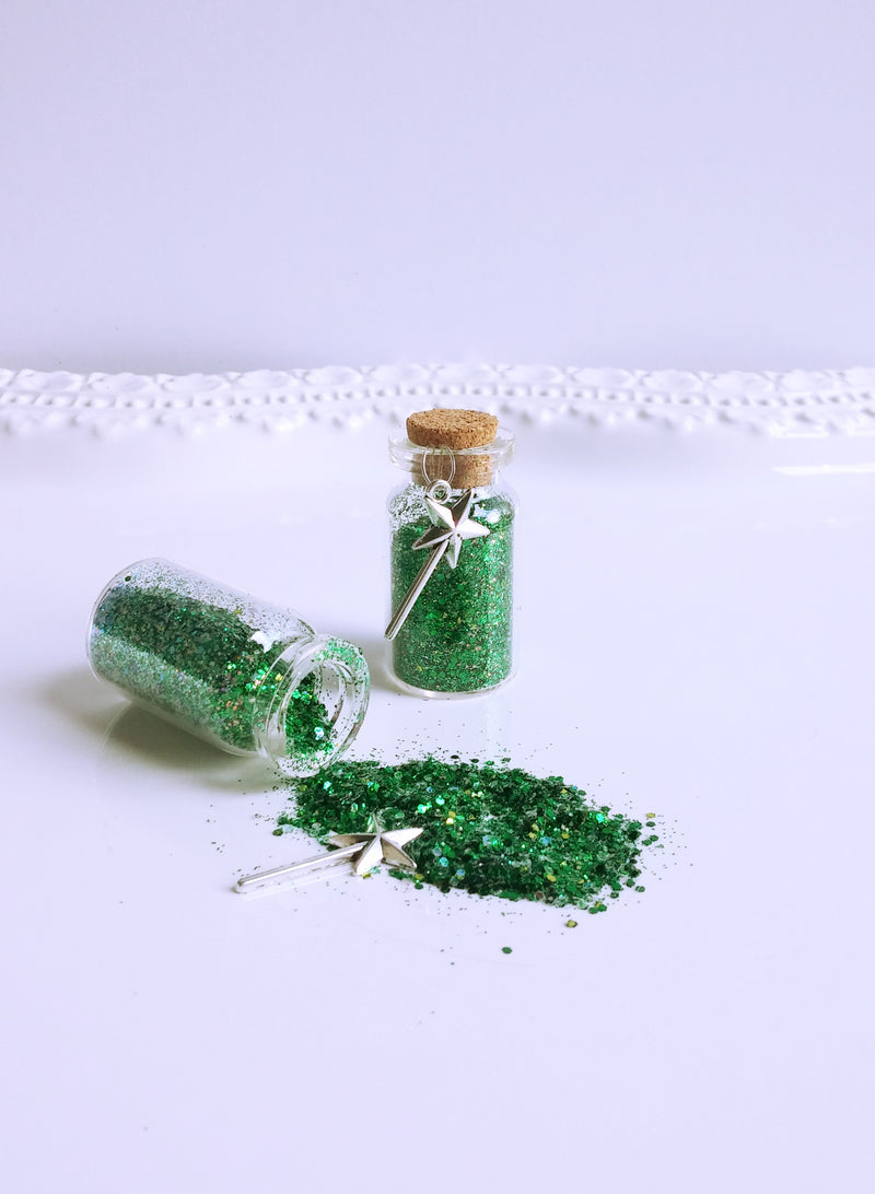 Green fairy dust favors