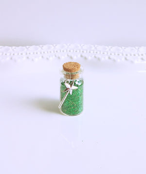 green glitter pixie dust party favors