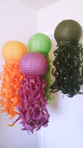 Halloween party decorations, mermaid party, halloween paper lanterns