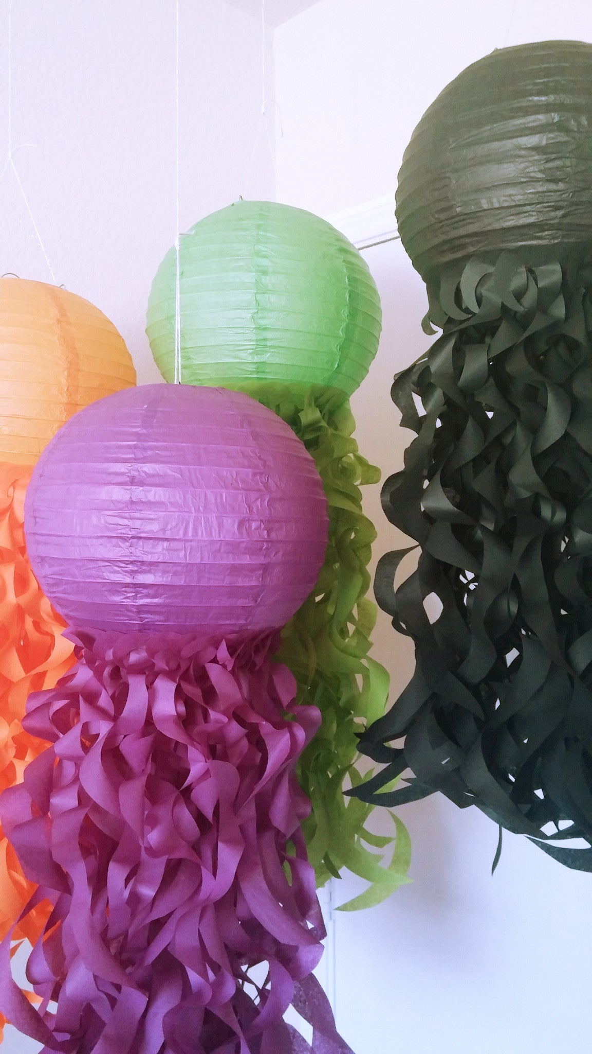 halloween party decorations, halloween paper lanterns, mermaid party