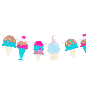 Ice cream party banner
