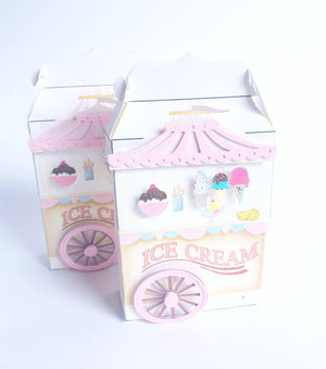 ice cream cart party favor treat boxes