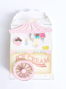 ice cream cart treat box