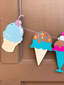 Ice cream sundae decorations for an ice cream shop or birthday