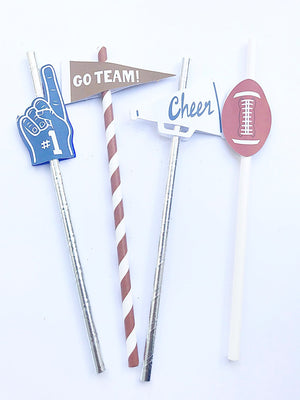 Football party straws