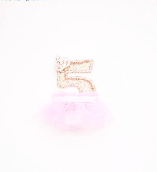 5th birthday princess candle