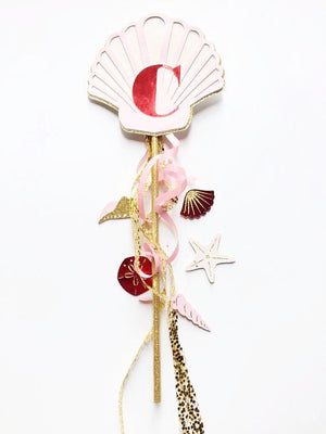 Mermaid shell wand for a mermaid party