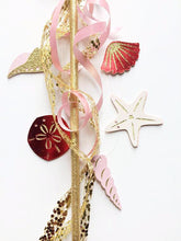 Ariel little mermaid seashell wand in pink and red