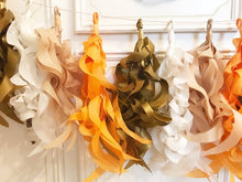 Curly Tissue Tassel Garland-Candy Corn