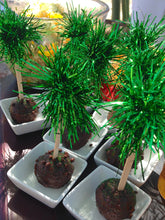 Green Tinsel Toppers
