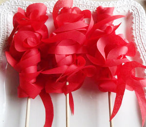 wedding send off favors in red