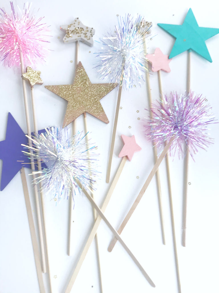 Star and Tinsel Cake Toppers