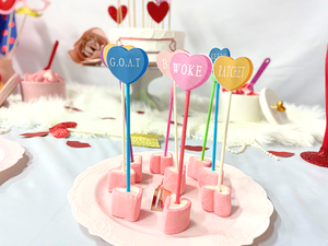 conversation heart toppers