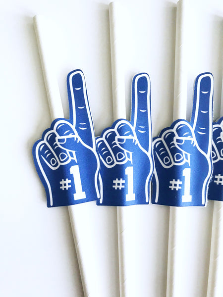 foam finger straws