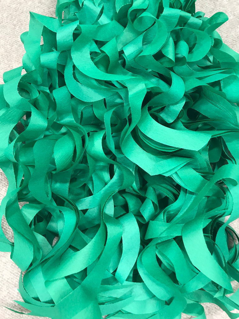 Emerald Green  Curly Tissue Paper| Tissue Toss| Emerald Green Paper| Recycled Tissue Paper