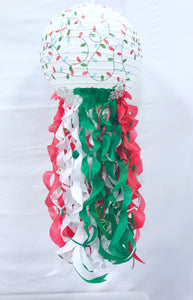 Christmas Light Paper Lantern| Jellyfish Lantern| Ugly Christmas Sweater Party Decor