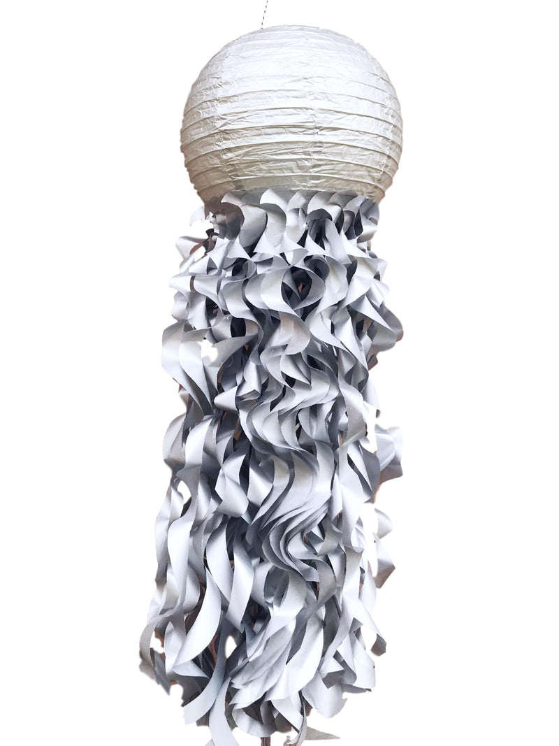silver metallic jellyfish lanterns