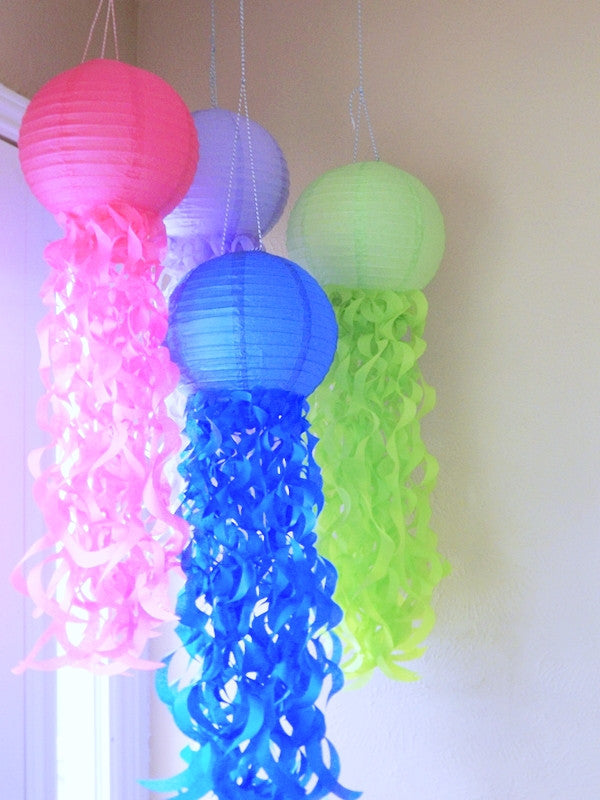 Mermaid Party jellyfish lanterns, Under the sea party decorations