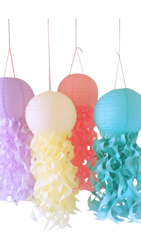 Under the sea jellyfish lanterns